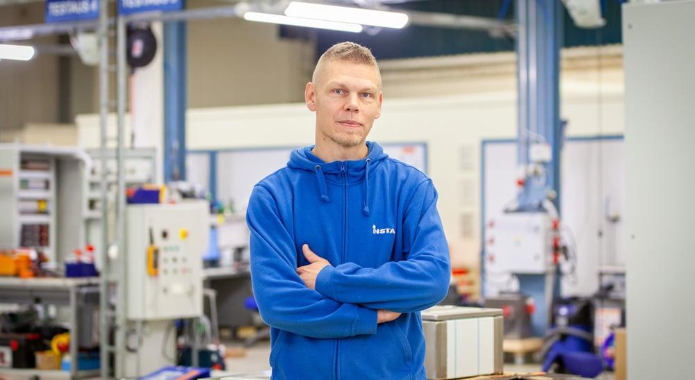 Instan Muuramen-toimipisteen työnjohtaja Mikko Koskinen